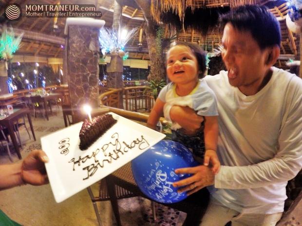 Acuaverde birthday cake