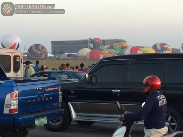 Traffic at the Balloon Fest