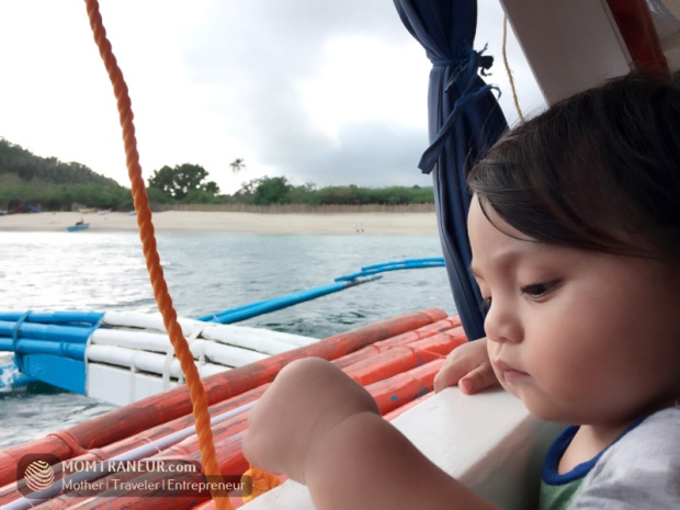 Tuz's first boat ride