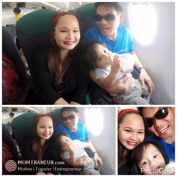 Baby Tuz's first plane ride