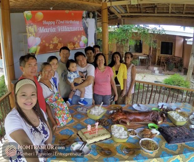 Celebrating Mahal's mom's birthday