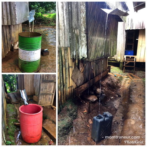 saving rainwater in the farm