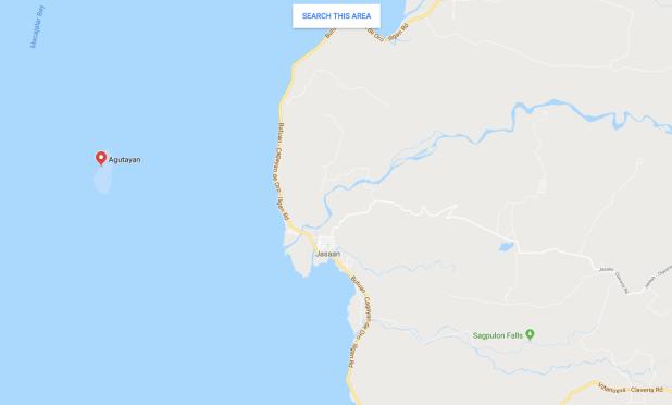 Agutayan Island Map