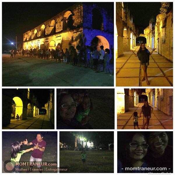 Oslob Cuartel at night