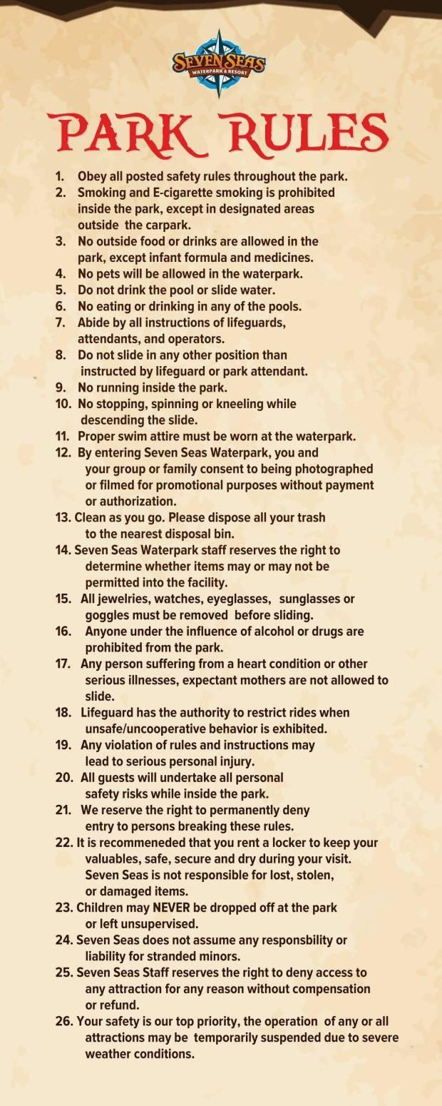 Seven Seas Rules