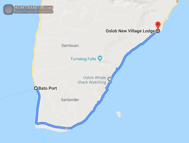 Bato Port to Oslob Map