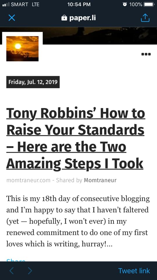 Momtraneur Featured in Tony Robbins News Daily