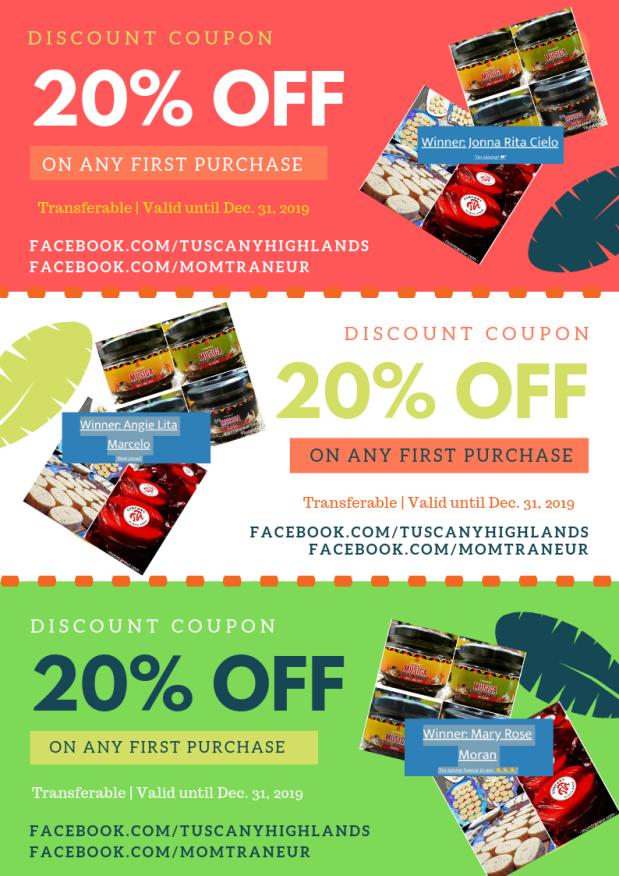 20% discount coupon