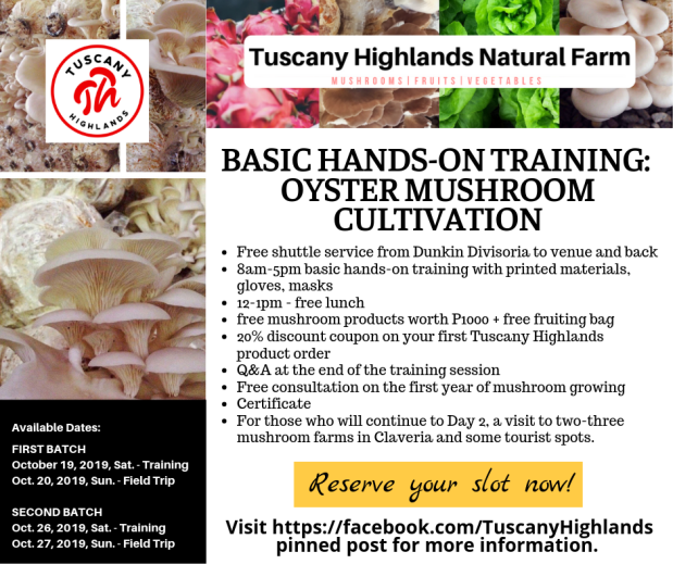 Basic Hands-On Training Oyster Mushroom Cultivation