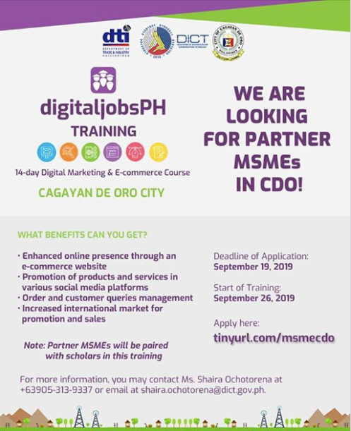 DICT DigitaljobsPH Training