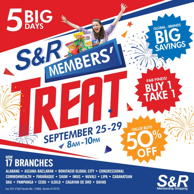 S&R Members' Treat 2019 and Online Giveaway