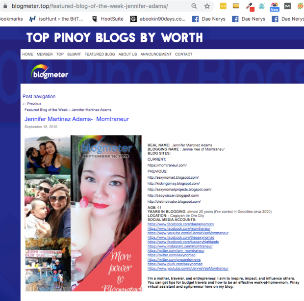 Blogmeter Top Featured Blog