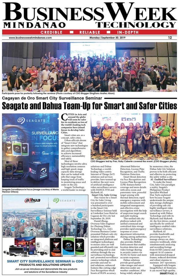 Seagate and Dahua Smart City Surveillance